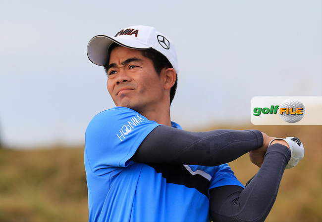 Wen-chong LIANG (CHN) tees off the 2nd tee during Thursday's Round 1 of the 2015 U.S. Open 115th National Championship held at Chambers Bay, Seattle, Washington, USA. 6/18/2015.<br /> Picture: Golffile | Eoin Clarke<br /> <br /> <br /> <br /> <br /> All photo usage must carry mandatory copyright credit (&copy; Golffile | Eoin Clarke)