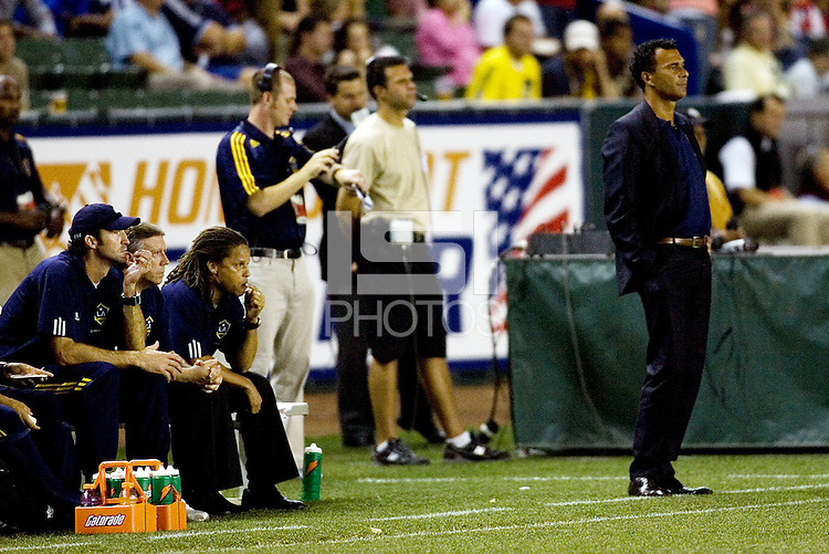 LA Galaxy head coach Ruud Gullit during the Super Clasico MLS match. The LA Galaxy defeated Chivas USA 5-2 during the SuperClasico at the Home Depot Center Stadium, in Carson, California, Saturday, April 26, 2008.