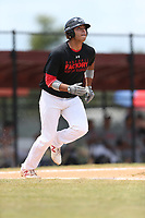 Yamil Nieves Alicea (17) of Puerto Rico Baseball Academy in Puerto Rico during the Under Armour Baseball Factory National Showcase, Florida, presented by Baseball Factory on June 12, 2018 the Joe DiMaggio Sports Complex in Clearwater, Florida.  (Nathan Ray/Four Seam Images)