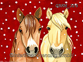 Kate, CHRISTMAS ANIMALS, WEIHNACHTEN TIERE, NAVIDAD ANIMALES, paintings+++++Horses in snow,GBKM326,#xa#