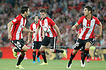 Athletic de Bilbao's Markel Susaeta, Benat Etxebarria, Javi Eraso and Sabin Merino during Supercup of Spain 1st match.August 14,2015. (ALTERPHOTOS/Acero)
