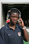 28 May 2006,  Eddie Johnson.The USA Mens National soccer team defeated Latvia by a score of 1-0 in an international friendly match at Rentschler Field in East Hartford, Connectiticut in their final preparationi for competition at World Cup 2006 in Germany.
