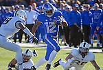 November 7, 2015 - Colorado Springs, Colorado, U.S. - Air Force wide receiver, Tyler Williams #12, breaks free for a long gain during the NCAA Football game between the Army Black Knights and the Air Force Academy Falcons at Falcon Stadium, U.S. Air Force Academy, Colorado Springs, Colorado.  Air Force defeats Army 20-3.