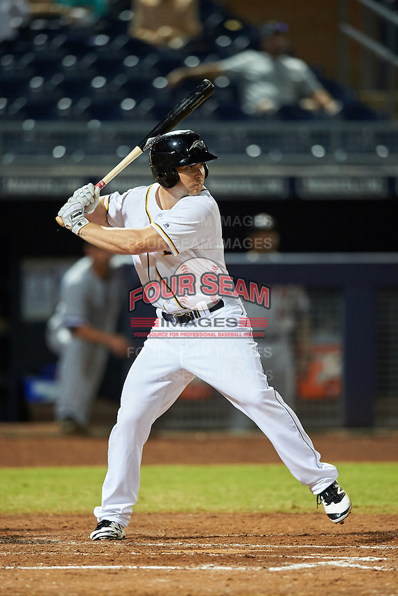 Peoria Javelinas Michael Gettys (23), of the San Diego Padres organization, during a game against the Glendale Desert Dogs on October 18, 2016 at Peoria Stadium in Peoria, Arizona.  Peoria defeated Glendale 6-3.  (Mike Janes/Four Seam Images)