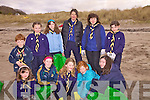 22 Cub Scouts from the 28th Kerry Scout Group in Derrynane took part in a beach clean up in Derrynane last Saturday, pictured here front l-r; Jenny Cunningham, Asha Fayen, Mella Hare, Abbey Fayen, Niamh Daly, back l-r; Mikie Cunningham, Elsie Noble, Gracie Cunningham, Gerldine Burkitt(Leader), Caroline Cunningham(Leader) & Louise Cunningham.