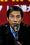 SC Kitchee Head Coach Chu Chi Kwong during the press conference of Nike Lunar New Year Cup 2017 match between SC Kitchee (HKG) and Auckland City FC (NZL) on January 31, 2017 in Hong Kong, Hong Kong. Photo by Marcio Rodrigo Machado / Power Sport Images
