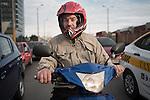 Motociclistas. Rambla portuaria y Colombia. Montevideo, 13/07/2016.<br /> URUGUAY / MONTEVIDEO / 2016<br /> Foto: Ricardo Ant&uacute;nez / AdhocFOTOS<br /> d&iacute;a: martes<br /> www.adhocfotos.com