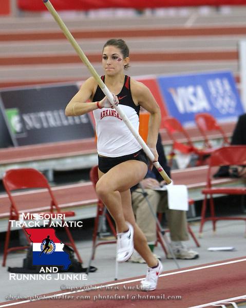 Tara Diebold, <br /> Arkansas Pole Vault<br /> 2011 NCAA DI Outdoor TF Nationals Qualfier<br /> Branson, Missouri<br /> Branson High School