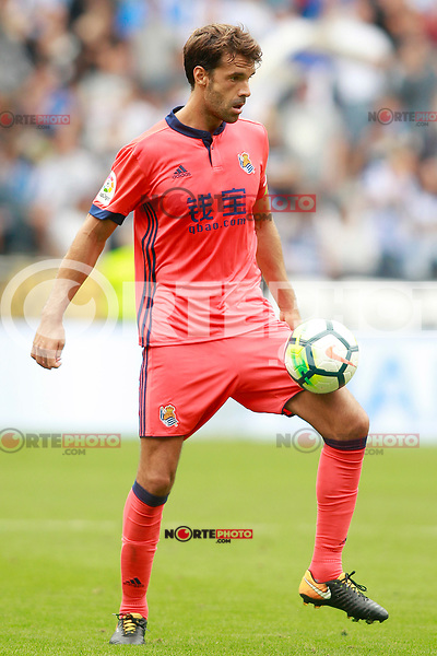 Real Sociedad's Xabi Prieto during La Liga match. September 10,2017. (ALTERPHOTOS/Acero) /NortePhoto.com
