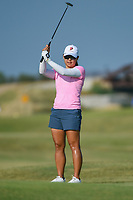 Mina Harigae (USA) reacts to barely missing her putt on 2 during the round 3 of the Volunteers of America Texas Classic, the Old American Golf Club, The Colony, Texas, USA. 10/5/2019.<br /> Picture: Golffile   Ken Murray<br /> <br /> <br /> All photo usage must carry mandatory copyright credit (© Golffile   Ken Murray)