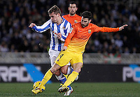 Real Sociedad's Antoine Griezman (l) and FC Barcelona's Cesc Fabregas during La Liga match.January 19,2013. (ALTERPHOTOS/Acero) /NortePhoto