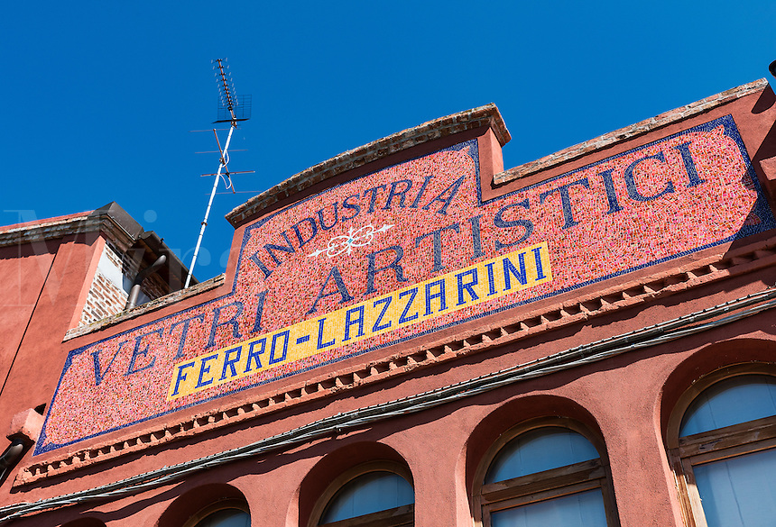 Venitian island of Murano, Italy. Famous for it's many furnaces and hand made glass.