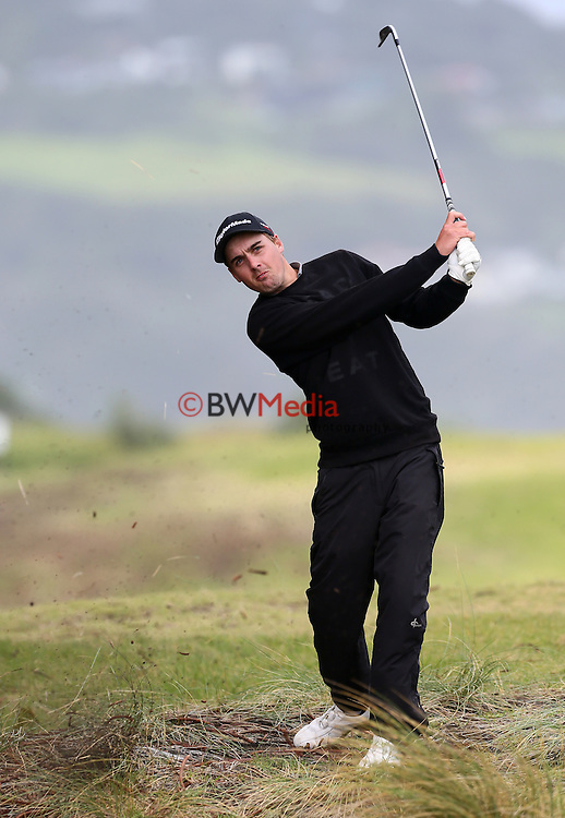 Joshua Leitch during the Autex Muriwai Open, Round One, Charles Tour, Muriwai Golf Course, Auckland, New Zealand. Thursday 30 April 2015. Photo: Simon Watts/www.bwmedia.co.nz <br /> All images &copy; NZ Golf and BWMedia.co.nz New Zealand Golf Images:<br />