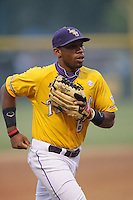 June 5, 2010: Leon Landry of LSU during NCAA Regional game against UCLA at Jackie Robinson Stadium in Los Angeles,CA.  Photo by Larry Goren/Four Seam Images