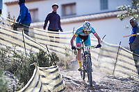 Chelva, SPAIN - MARCH 6: Eloy Palomar during Spanish Open BTT XCO on March 6, 2016 in Chelva, Spain