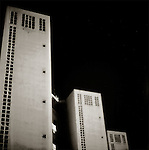 Tall buildings in an urban environment