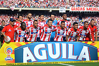 BARRANQUILLA -COLOMBIA ,30-07-2017. Formación del Atlético Junior. Acción de juego entre los equipos Atlético Junior y Atléco Nacional  durante encuentro  por la fecha 5 de la Liga Aguila II 2017 disputado en el estadio Metropolitano Roberto Meléndez de Barranquilla/ Team of Atlético Junior.Action game between Atletico Junior and Atletico Nacional during match for the date 5 of the Aguila League II 2017 played at Metropolitano Roberto Melendez in Barranquilla . Photo:VizzorImage / Alfonso Cervantes  / Cont