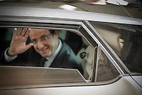 Audience solennelle à la Cour des comptes. François Hollande, président de la République. Paris, vendredi 7 septembre 2012 - 2012©Jean-Claude Coutausse / french-politics pour Le Monde