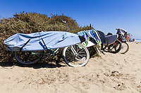 Bikes and Surf Boards at the Beach in San Clemente California