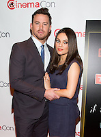 LAS VEGAS, NV - March 27: Channing Tatum and Mila Kunis pictured arriving at Warner Broters Presentation at Cinemacon 2014 at Caesars Palace in Las Vegas, NV on March 27, 2014. © Kabik/ Starlitepics