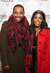 """Brian Moreland and Alia Jones Harvey during the Opening Night Celebration for """"Good Grief"""" at the Vineyard Theatre on October 28, 2018 in New York City."""