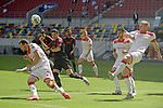 v.re:Rouwen HENNINGS (Fortuna Duesseldorf),Schuss,Aktion<br />Ruben VARGAS  (FC Augsburg),<br />Kevin STOEGER (Fortuna Duesseldorf).<br /><br />Fussball 1. Bundesliga, 33.Spieltag, Fortuna Duesseldorf (D) -  FC Augsburg (A), am 20.06.2020 in Duesseldorf/ Deutschland. <br /><br />Foto: AnkeWaelischmiller/Sven Simon/ Pool/ via Meuter/Nordphoto<br /><br /># Editorial use only #<br /># DFL regulations prohibit any use of photographs as image sequences and/or quasi-video #<br /># National and international news- agencies out #