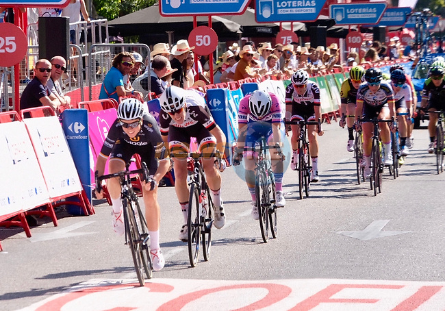 Audrey Cordon Ragot (FRA) Wiggle High5 finishes 3rd overall in the general classification at the end of Stage 2 of the Madrid Challenge by La Vuelta 2018, running 98.6km around the streets of Madrid, Spain. 16th September 2018.                   <br /> Picture: Unipublic/Vicent Bosch | Cyclefile<br /> <br /> <br /> All photos usage must carry mandatory copyright credit (&copy; Cyclefile | Unipublic/Vicent Bosch)