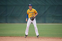 Connor Simon (20) during the WWBA World Championship at the Roger Dean Complex on October 12, 2019 in Jupiter, Florida.  Connor Simon attends The Saint Pauls School Sr Boys High School in Mandeville, LA and is committed to Louisiana State.  (Mike Janes/Four Seam Images)