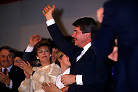 File Photo - RCM Leader Jean Doe get elected as Mayor of Montreal, November 9, 1986.<br /> <br /> <br /> Dore has been told he as a terminal pancreas cancer and 3 weeks to live , this September 2014.<br /> <br /> File Photo : Agence Quebec Pressse  - Pierre Roussel