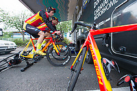 Picture by Allan McKenzie/SWpix.com - 14/07/17 - Cycling - HSBC UK British Cycling National Circuit Series - Velo29 Altura Criterium - Stockton, England - Raleigh GAC warm up.