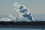 Cloud of industrial pollution next to the Salton Sea, Imperial Valley, California