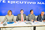 Mariano Rajoy, Maria Dolores de Cospedal, Fernando Martinez Maillo and Javier Arenas during the meeting with the national executive committee of Partido Popular at Genova in Madrid. May 03, 2016. (ALTERPHOTOS/Borja B.Hojas)