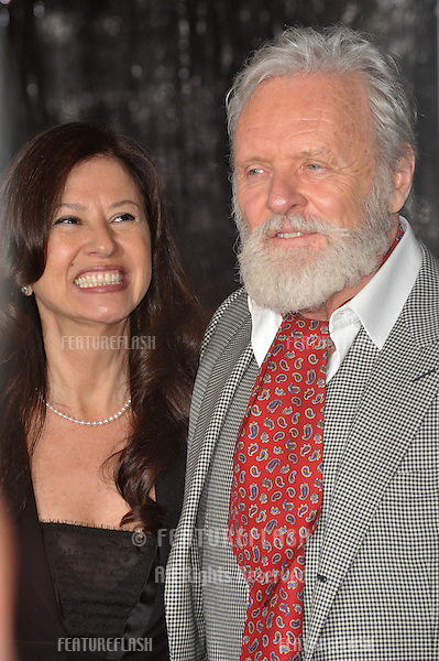 """Sir Anthony Hopkins & wife Stella Arroyave at the US premiere of his new movie """"Wolfman"""" at the Arclight Theatre, Hollywood..February 9, 2010  Los Angeles, CA.Picture: Paul Smith / Featureflash"""