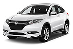 2016 Honda HRV Executive 5 Door Suv Angular Front stock photos of front three quarter view