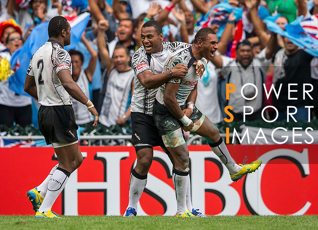 Fiji play New Zealand in the Cup Semi-Final on Day 3 of the Cathay Pacific / HSBC Hong Kong Sevens 2013 on 24 March 2013 at Hong Kong Stadium, Hong Kong. Photo by Andy Jones / The Power of Sport Images