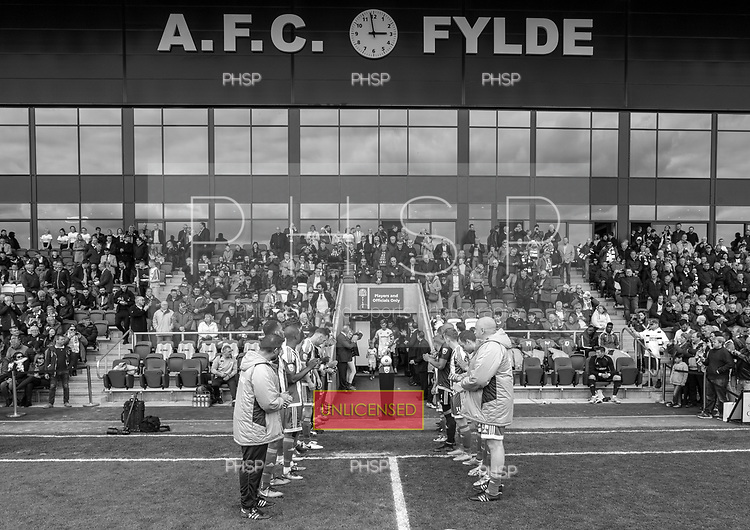 29/04/2017 National League North AFC Fylde v Worcester City<br /> <br /> Worcester City players form a guard of honour for League Champions AFC Fylde