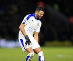 Leicester City's Riyad Marrez injures his hamstring<br /> <br /> - English Premier League - Watford vs Leicester City  - Vicarage Road - London - England - 5th March 2016 - Pic David Klein/Sportimage