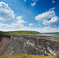 Claerwen Reservoir Dam, Elan Valley, Wales