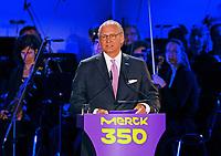 Ansprache von Merck Vorstandsvorsitzender Dr. Stefan Oschmann - 03.05.2018: Festakt zu 350 Jahre Merck in Darmstadt mit Bundeskanzlerin Angela Merkel