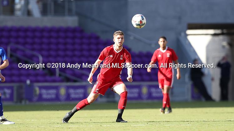 Orlando, Florida - Monday January 15, 2018: Leon Schwarzer. Match Day 2 of the 2018 adidas MLS Player Combine was held Orlando City Stadium.
