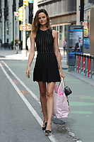 www.acepixs.com<br /> August 26, 2017 New York City<br /> <br /> Barbara Fialho attends the fittings for the Victoria's Secret Fashion Show 2017 on August 26, 2017 in New York City.<br /> <br /> Credit: Kristin Callahan/ACE Pictures<br /> <br /> <br /> Tel: (646) 769 0430<br /> e-mail: info@acepixs.com