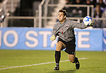14 December 2007: Ohio State's Casey Latchem. The Ohio State University Buckeyes defeated the University of Massachusetts Minutemen 1-0 at SAS Stadium in Cary, North Carolina in a NCAA Division I Mens College Cup semifinal game.