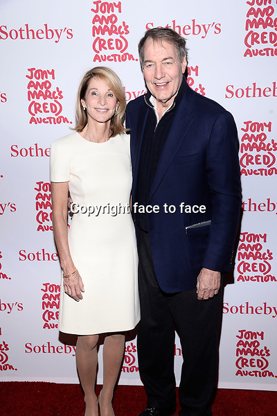 EW YORK, NY - NOVEMBER 23,2013: Amanda Burden and Charlie Rose pictured at Jony And Marc's (RED) Auction at Sotheby's on November 23, 2013 in New York City<br /> Credit: MediaPunch/face to face<br /> - Germany, Austria, Switzerland, Eastern Europe, Australia, UK, USA, Taiwan, Singapore, China, Malaysia, Thailand, Sweden, Estonia, Latvia and Lithuania rights only -