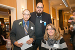 Waterbury, CT-17, October 2017-101717CM14 Social moments, from left Allan Hebert, Dew Rosado-Torres and Donna DeMarest all of Waterbury  are photographed during the Easter Seals annual dinner at the Courtyard by Marriott in Waterbury on on Tuesday.   Christopher Massa Republican-American