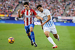 "Atletico de Madrid's player Nico Gaitán and Malaga CF Gonzalo ""Chory"" Castro during a match of La Liga Santander at Vicente Calderon Stadium in Madrid. October 29, Spain. 2016. (ALTERPHOTOS/BorjaB.Hojas)"