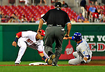 21 June 2010: Washington Nationals' shortstop Ian Desmond gets Kansas City Royals' Mike Aviles out attempting to steal second during the 5th inning at Nationals Park in Washington, DC. The Nationals edged out the Royals 2-1 in the first game of their 3-game interleague series, snapping a 6-game losing streak. Mandatory Credit: Ed Wolfstein Photo