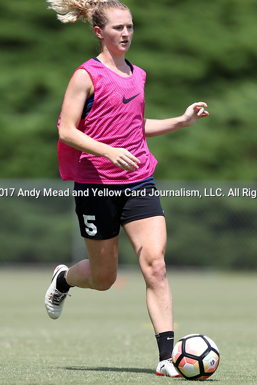 CARY, NC - JULY 11: Samantha Mewis. The North Carolina Courage held a training session on July 11, 2017, at WakeMed Soccer Park Field 6 in Cary, NC.