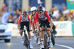 Lotto-Soudal in action during Stage 1 of La Vuelta 2019, a team time trial running 13.4km from Salinas de Torrevieja to Torrevieja, Spain. 24th August 2019.<br /> Picture: Eoin Clarke | Cyclefile<br /> <br /> All photos usage must carry mandatory copyright credit (© Cyclefile | Eoin Clarke)