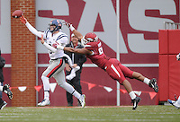 NWA Media/ J.T. Wampler -Arkansas defeated Ole Miss 30-0 Saturday Nov. 22, 2014 at Reynolds Razorback Stadium.