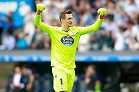 Deportivo de la Coruna's Przemyslaw Tyton celebrates goal during La Liga match. September 10,2017.  *** Local Caption *** © pixathlon<br /> Contact: +49-40-22 63 02 60 , info@pixathlon.de